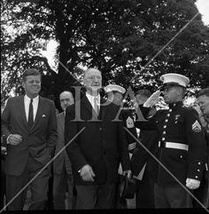 President John F. Kennedy exits the U. Embassy to board a helicopter to take him to London to meet Mr. He is accompanied by President Éamon de Valera. See more photos like this at www. John F Kennedy, American Presidents, History Photos, Photo Archive, Jfk, More Photos, Ireland, Irish, Meet