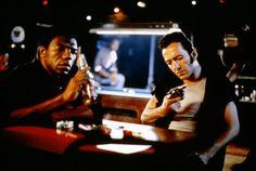 """Vondie Curtis-Hall and Joe Strummer in """"Mystery Train"""" (Jim Jarmusch) 1989"""
