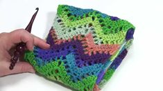How to Crochet: Chevron Lace Infinity Scarf (Left Handed)