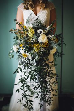 Stunning, organic wedding bouquet captured by Saltwater Studios. Meet them at FOUND the wedding market. http://www.foundweddingmarket.com