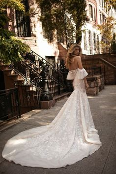 luxury wedding dress cold shoulder - Berta Bridal Fall 2017