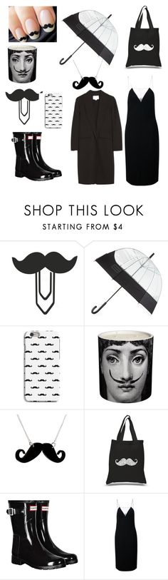 """11 moustache  @nc4you"" by nc4you ❤ liked on Polyvore featuring Hunter, Fornasetti, Any Old Iron, Los Angeles Pop Art, Alexander Wang, black, AlexanderWang, moustache and NC4you"