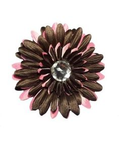 Pink & brown is so on-trend! Get this darling Gerber daisy flower hair clip for just $2.45!