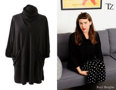 Black Tunic Cowl neck Jersey Cape Dress Winter Long by tamarziv, $105.00
