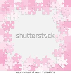 Rectangle Blue 500 Pieces Background Puzzle  Jigsaw Banner  Vector