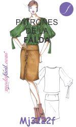 Descarga gratis los patrones de la Falda Cruzada con Olanes disponible en 12…