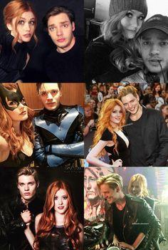 Kat and Dom Clary Fray, Clary Et Jace, Shadowhunters Actors, Shadowhunters The Mortal Instruments, Freeform Tv Shows, Dominic Sherwood, Jace Wayland, Clace, Katherine Mcnamara