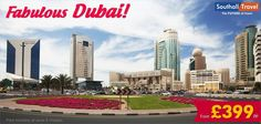 Enjoy a glorious holiday in Dubai with Southall Travel, for a price of £ 399! Hurry, make your bookings today!  More details here: http://www.southalltravel.co.uk/holidays/middle-east/dubai/