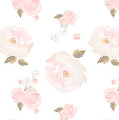 Indy Bloom Blush Rose. Watercolor Floral by ByGeorgeBabyBoutique