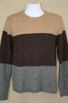 NWT Michael Kors Lambswool Cashmere Blend Flecked Crewneck Pullover Sweater sz M #MichaelKors #Crewneck