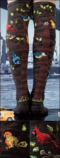 #33 Bird Socks by Lisa Whiting from the Winter 2010/2011 issue of Vogue Knitting