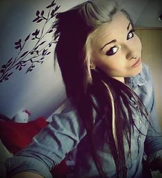 Really beautiful scene black and blonde hair. #hipster