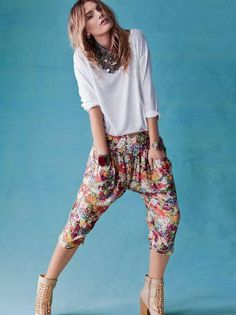 Free People style // drop crotch pants
