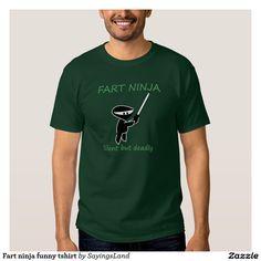 Fart ninja funny tshirt
