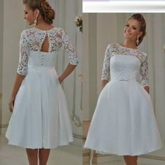 I found some amazing stuff, open it to learn more! Don't wait:http://m.dhgate.com/product/2016-cheap-tea-length-wedding-dresses-short/376909943.html