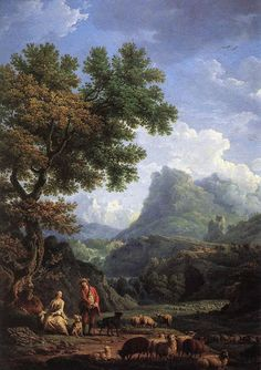 CLAUDE JOSEPH VERNET - Os pastores nos Alpes Óleo sobre tela   OBRAS DE CADA DIA: Novembro 2012