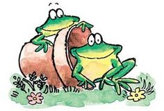 Frogs - Rubber Stamps - 123Stitch.com