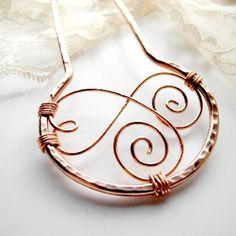 Copper Swirls Metal Hair Fork Discover Handmade August 1 #HA #HAF #HAFshop #HAS #handmade