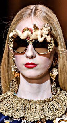 Dolce &  Gabbana F/W 2018 #dolcegabbana #detail #sunglasses