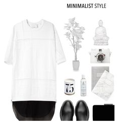 """""""B & W"""" by hellodollface ❤ liked on Polyvore featuring Miu Miu, John Lewis, Kiehl's, L'Objet, Lomography, Lalique and Minimaliststyle"""