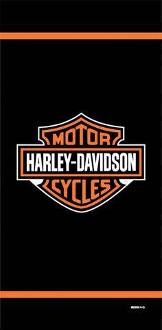 Harley-Davidson® Logo and Stripe Beach Towel 11116