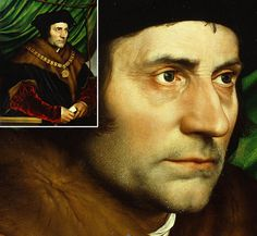 """""""Sir Thomas More"""" ~ Hans Holbein the Younger 1527. Amazing, amazing detail. At the Frick Collection in NYC."""