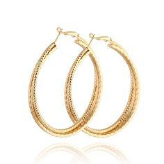 $2.27  49mm Diameter 18k Gold Electroplated Copper Elegant Round Hoop Earring http://www.eozy.com/49mm-diameter-18k-gold-electroplated-copper-elegant-round-hoop-earring.html