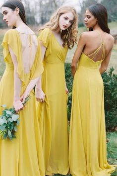3270e8176d Mint Green Modern Sleeveless Zip up Chiffon Floor Length Flower Bridesmaid  Dresses. See more. mustard yellow lemon wedding color ideas for 2019 -  mustard ...