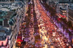 Christmas in Paris by navidbaraty Christmas In Paris, Champs Elysees, High Quality Images, Twilight, Times Square, Europe, Seasons, Sunset, Night
