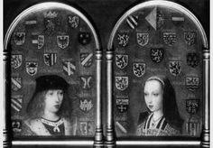 Anonyme, Diptyque avec Marguerite d'Autriche et Philibert de Savoie, vers 1495 National Gallery, Londres
