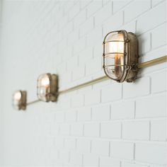 For the best electric garden lighting ideas, shop our industrial, retro style Bulkhead outdoor wall light in brass for your outside wall or porch. Porch Lighting, Exterior Lighting, Bathroom Lighting, Kitchen Lighting, Industrial Wall Lights, Industrial Light Fixtures, Light Fittings, Wall Mounted Light, Wall Mounted Shelves