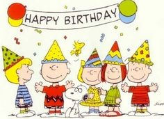 From Charlie Brown Snoopy And The Peanuts Gang Cyberbargins Birthday Ecards