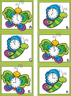 Most Popular Teaching Resources: It's Spring Time - A Telling Time Write the Room F...