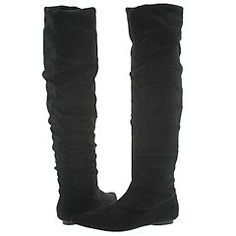 black tall boots...suede, leather, flats and heels...I love them all!