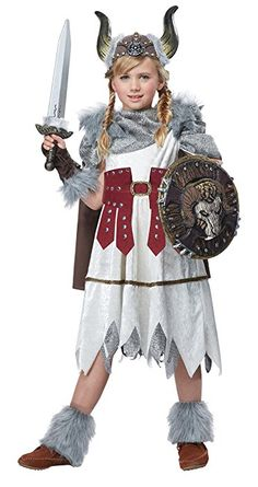 California Costumes Valorous Viking Girl Costume, Multi, Large