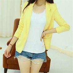 Nova Mulher Moda curto Pequeno Suit Blazer – BRL R$ 56,80
