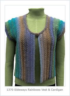 Ravelry: Sideways Rainbows Jacket or Vest pattern by Hélène Rush