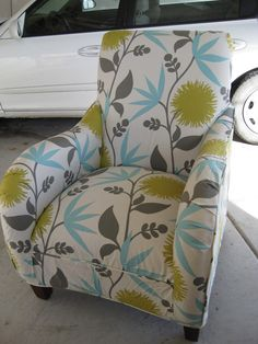 reupholstered chair  just what i was looking for