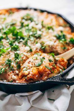 Skillet Chicken Tortilla Pie #skillet #recipe