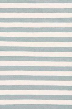 Dash And Albert Trimaran Stripe Light Blue/Ivory Area Rug