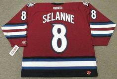TEEMU SELANNE Colorado Avalanche 2003 CCM Throwback Alternate NHL Hockey  Jersey 21871ec76