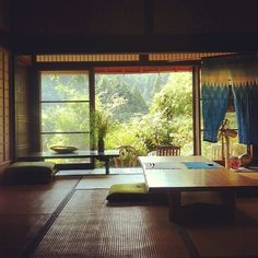 Painting For Home Decoration Japanese Style House, Traditional Japanese House, Japanese Home Decor, Japanese Modern, Japanese Interior Design, Japanese Design, Interior Windows, Interior Exterior, Japanese Architecture