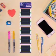 Etiquetas resistentes al agua para autocompletar. Las podés colocar en cuadernos, cajas, folios, ¡donde necesites!