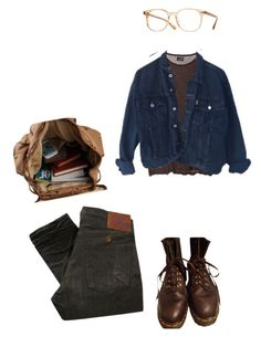 """Занятия"" by classicalnothing ❤ liked on Polyvore featuring PRPS, Cheap Monday, ESPRIT, Dr. Martens and Oliver Peoples"