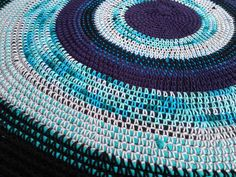 Crocheted Cotton Rag Rug with Pattern - inspired by Olino Hobby Rugs - CROCHET