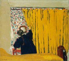 "peinture française : Édouard Vuillard, ""le rideau jaune"", 1893 ✏✏✏✏✏✏✏✏✏✏✏✏✏✏✏✏ IDEE CADEAU   ☞ gabyfeeriefr.tumblr.com   .....................................................   CUTE GIFT IDEA    ☞ frenchvintagejewelryen.tumblr.com   ✏✏✏✏✏✏✏✏✏✏✏✏✏✏✏✏"