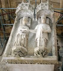 PHILIPPA OF LANCASTER 1359-1415 ELDEST DAUGHTER OF JOHN OF GAUNT, FIRST DUKE OF LANCASTER AND BLANCHE OF LANCASTER. SHOWN HERE WITH HER HUSBAND - KING JOHN I OF PORTUGAL
