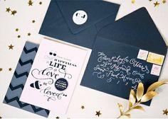 大人っぽい招待状!結婚式で使える、手作りペーパーアイテムのアイデア | Mikiseabo -ミキシーボ-