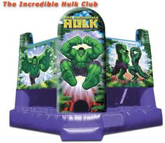 The Incredible Hulk Bounce House Rent - Kids birthday and other party idea