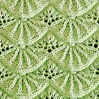 Alsacian Scallops Lace Knitting. Best lace knitting 2018. Written instructions and video tutorial are included for your convenience. - KnittingStitches.org